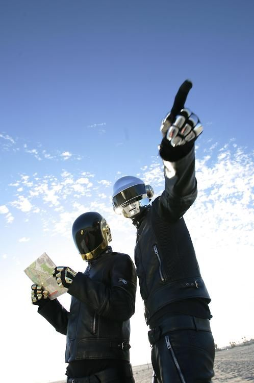 Daft Punk. Click for their song Around the World / Harder Better Faster Stronger.