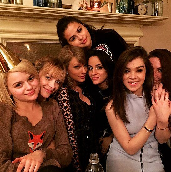"""Selena and Taylor were among a group of girlfriends who celebrated Camila Cabello's birthday in March, and in an Instagram post, Selena called it """"girlsnighttothefullest.""""                  Source: Instagram user selenagomez"""