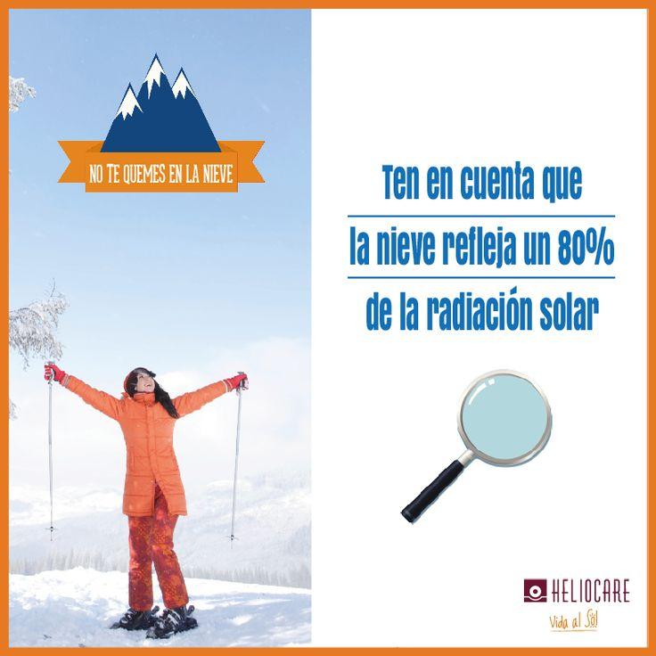 Comienza la temporada de #esqui y no podemos olvidar protegernos del sol. Durante el mes de diciembre todos los jueves te formaremos en #fotoproteccion en la #nieve ¡¡ATENCIÓN!! La nieve refleja un 80% de la radiación solar, en los deportes de nieve se incrementa la radiación ultravioleta que se recibe. POR FAVOR: A la hora de elegir un nivel de protección solar conviene elegir uno muy alto.  Te aconsejamos las texturas fundentes que se absorben rápidamente.