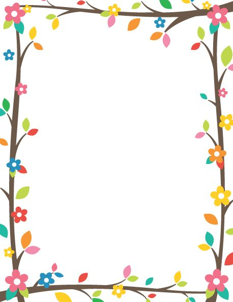Printable tree branch border. Use the border in Microsoft Word or other programs…