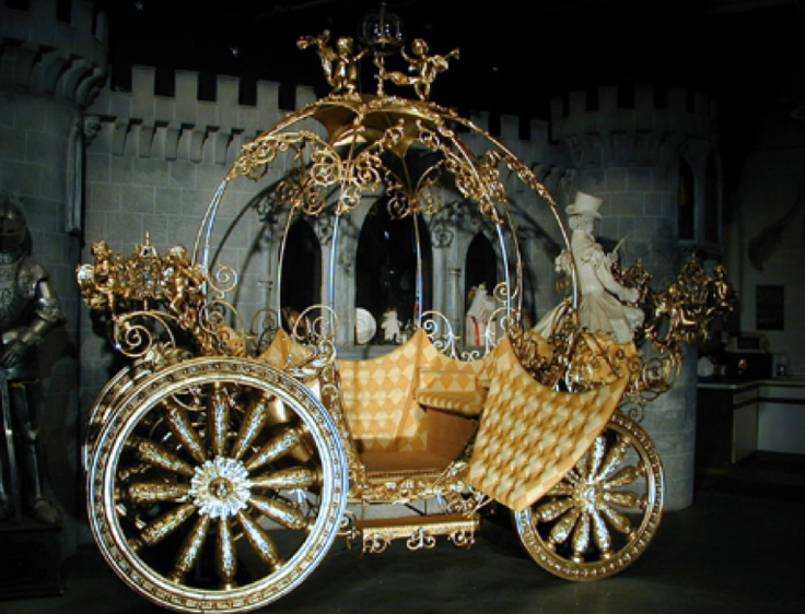 Lady Ella's round shaped carriage made of Gold...