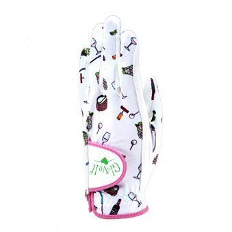 Glove It Women's Nine and Wine Golf Glove (Medium, Left Hand) by Glove It. $15.90. Stretch lycra back with cabretta leather palm includes a magnetic tab with a crystal Glove It ball marker. Left hand size S-M-L-XL; Right hand sizes S-M-L. UV50 sun protection.