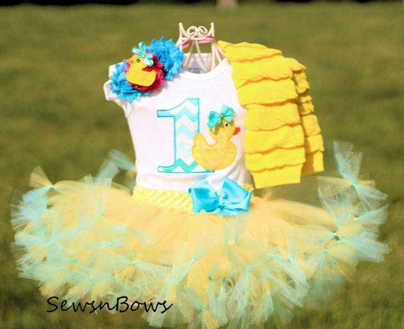 Rubber Duck Birthday Girl First Birthday Rubber Duck by SewsnBows                                                                                                                                                                                 More