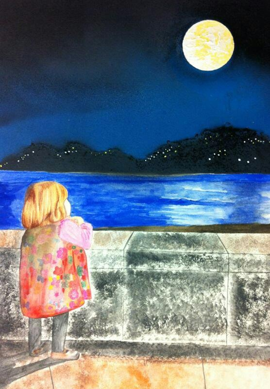 """""""La niña y la luna"""""""
