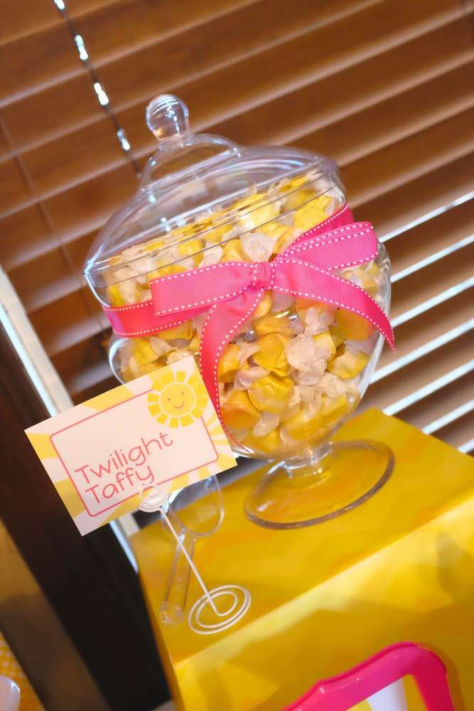 You are my sunshine birthday party candy jar!  See more party planning ideas at CatchMyParty.com!