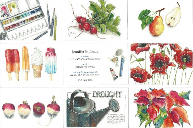 Moo.com business cards. Your art on one side, your name & website on the other!