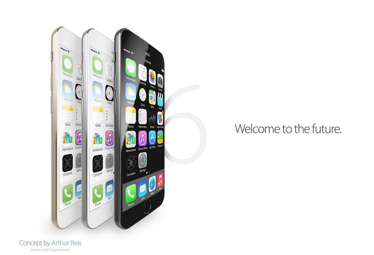 iPhone 6 with 4.5-inch curved sapphire display and interesting design appears in new concept  In recent months there have been rumors that Apple's upcoming iPhone will feature a bigger display based on sapphire glass technology in order to resist to scratches.