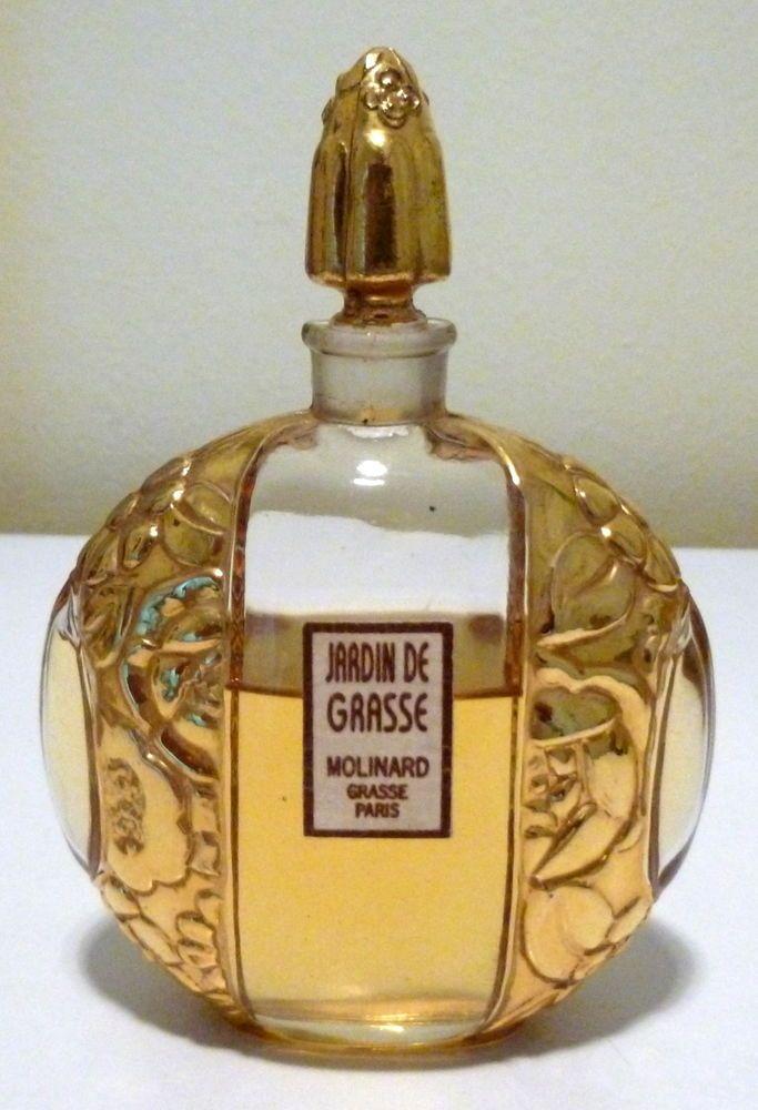 Molinard: rare flacon luxe doré or pour le parfum    Jasmin de Grasse    perfume