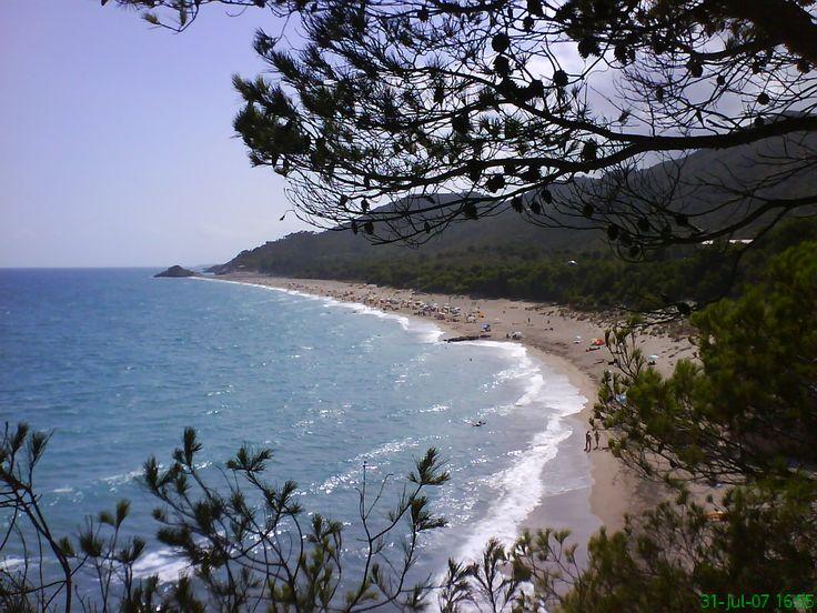 Mi playa nudista preferida, en el Camping El Templo del Sol (Naturista) de L`Hospitalet de l`Infant. (Tarragona)