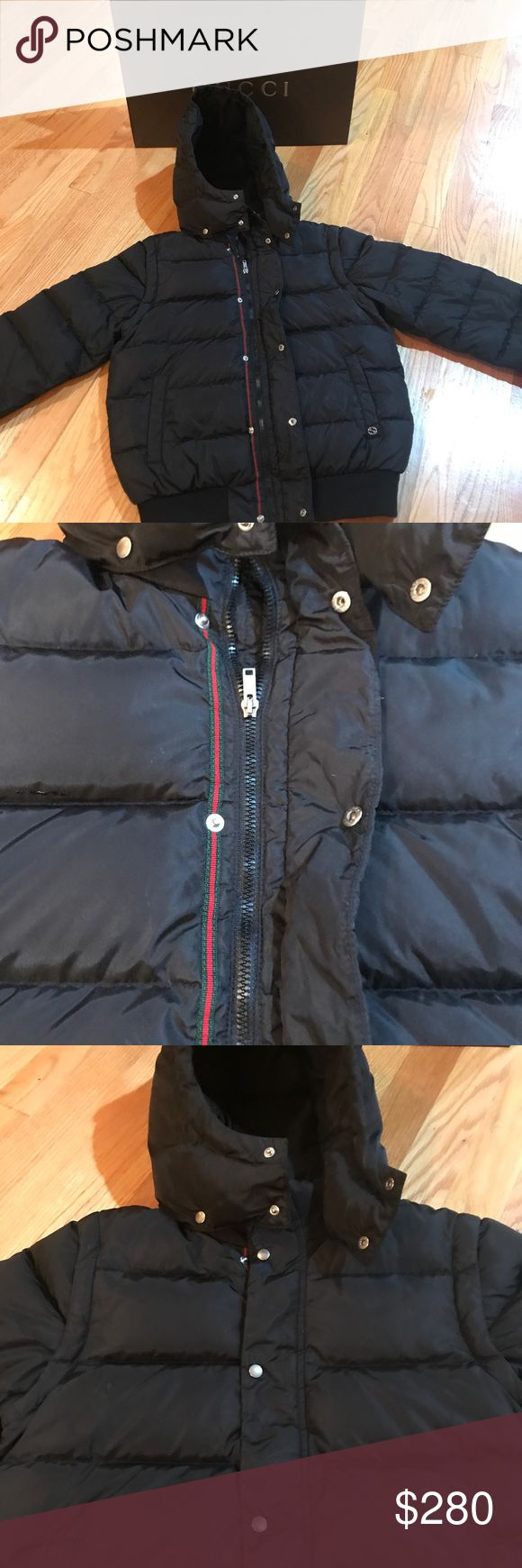 Boys Gucci winter Coat Like new!!! Boys Gucci coat. It's in perfection condition, great for any little man. Keeps you really warm! Gucci Jackets & Coats Puffers