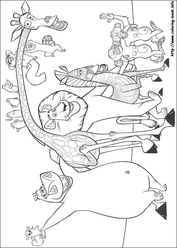 madagascar movie characters coloring pages | 44 best Coloring Pages (Madagascar) images on Pinterest ...