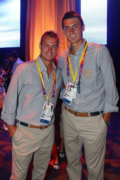 Tomic and Hewitt at the Olympics.