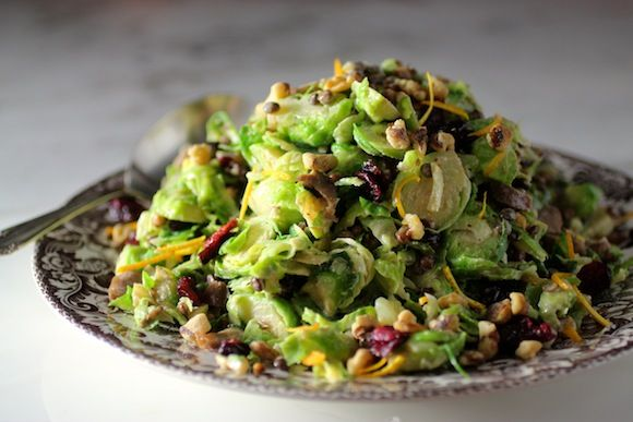 Cal-Style Brussels Sprouts Salad with Fruit and Nuts #FallFest #Thanksgiving