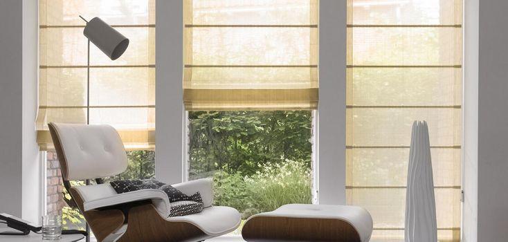 CORTINAS ROMANAS Las Cortinas Romanas  Hunter Douglas son cortinas modernas que  ofrecen importantes ventajas de calidad sobre las cortinas store tradicionales, con finas terminaciones que no presentan costuras a la vista y una amplia variedad de telas. @hunterdouglasco #desing #house #style #spaces #decoration