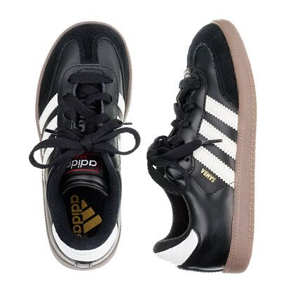 Kids' Adidas® Samba® sneakers with red tongue stitch