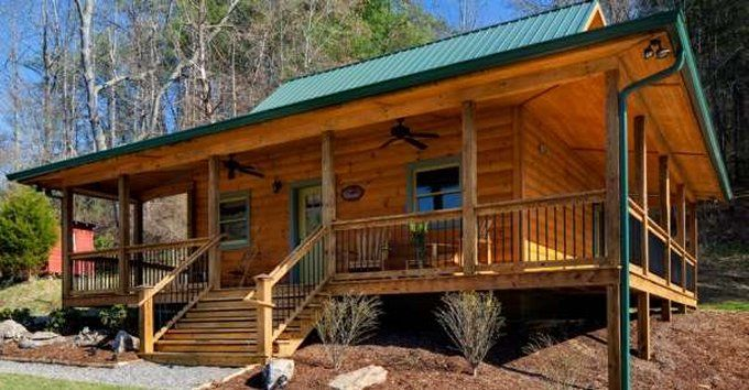 Nice Cabin With Wrap Around Porch Cozy Homes Life Cabins In The Woods Log Homes New House Plans