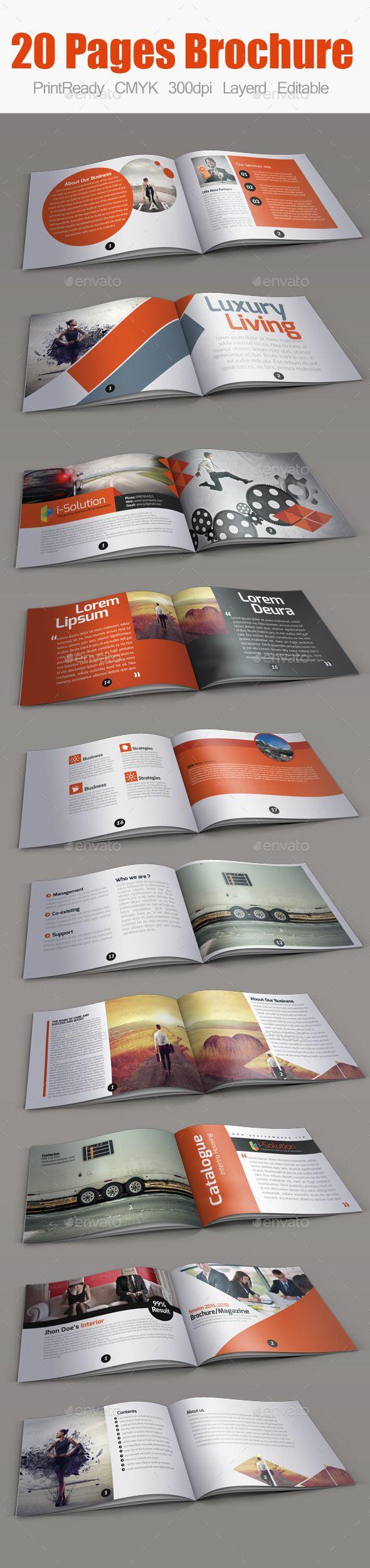 Multiuse Minimal Square Brochure Template #design Download: http://graphicriver.net/item/-multiuse-minimal-square-brochure/10359540?ref=ksioks