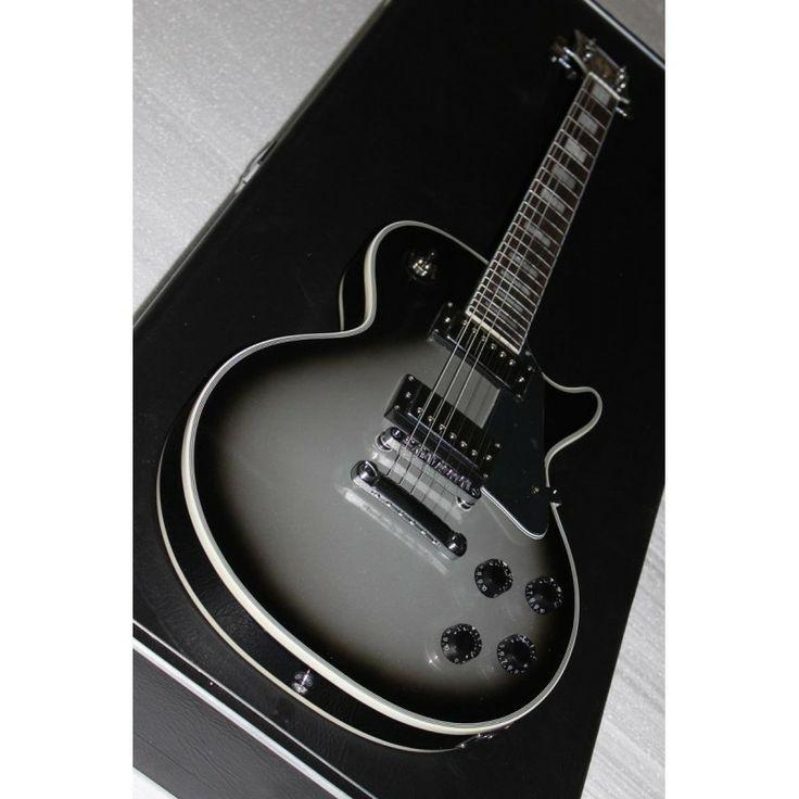 gibson custom lp gray electric guitar guitar collectibles guitar gibson guitars music guitar. Black Bedroom Furniture Sets. Home Design Ideas