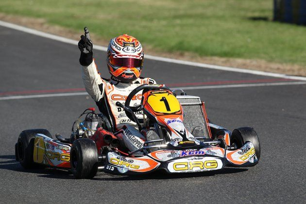 Max Verstappen winning all karting championships you can think of