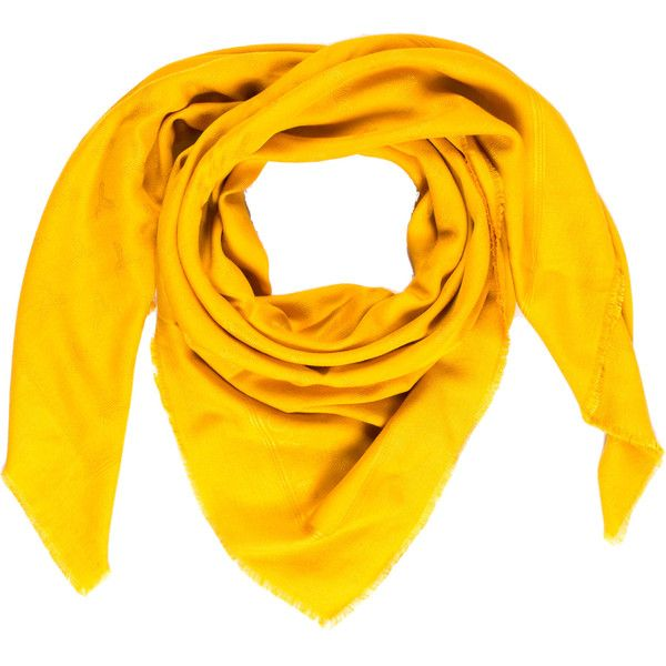 Pre-owned Goyard Goyardine Jacquard Scarf (690 NZD) ❤ liked on Polyvore featuring accessories, scarves, yellow, goyard, print scarves, yellow scarves, yellow shawl and patterned scarves