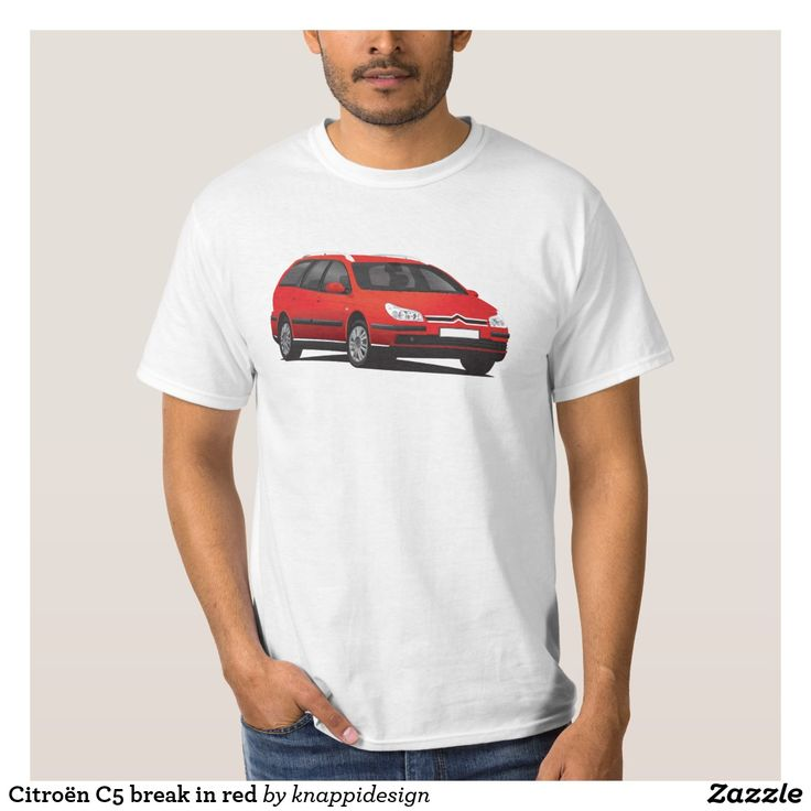 Citroën C5 break in red, tshirt.  #citroen #citroën #citroenc5 #citroënc5 #citroenc5break #frenchcars #automobile #automobileillustration #car #cartshirts #french #auto #bilar #red #futureclassics