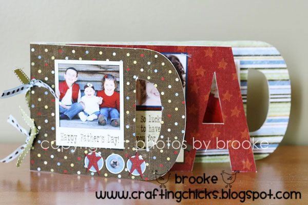 For all of you helping your kids work on a gift for all those wonderful fathers out there...Father's Day Photo Album from @Matt Nickles Nickles Nickles Nickles Nickles Valk Chuah Crafting Chicks