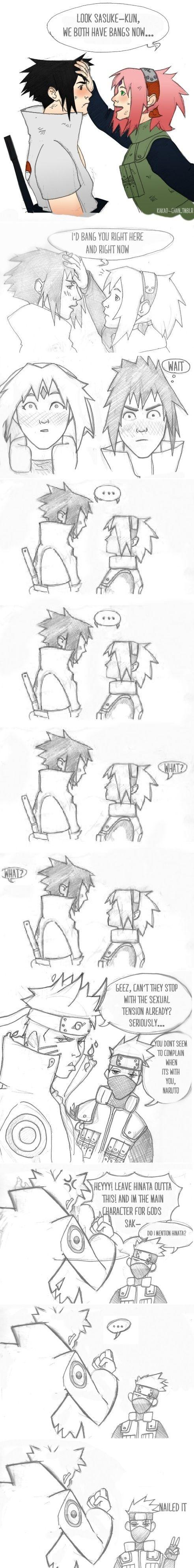 Sasuke and Sakura, Naruto and Hinata. Oh Kakashi!