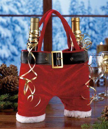 Christmas! Santa Pants Double Wine Tote. Sold at Pottery Barn.