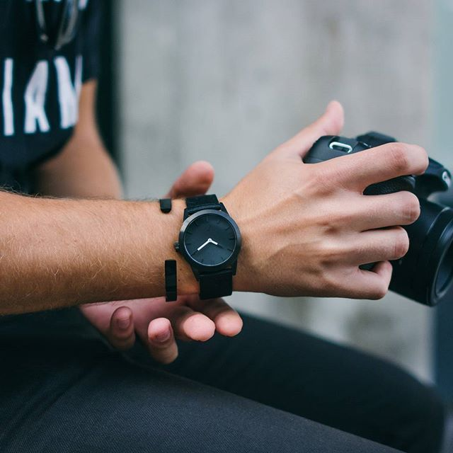 Addicted to black. #TRIWAxSTAMPD Bracelet and watch, available in selected stores and at TRIWA.com!