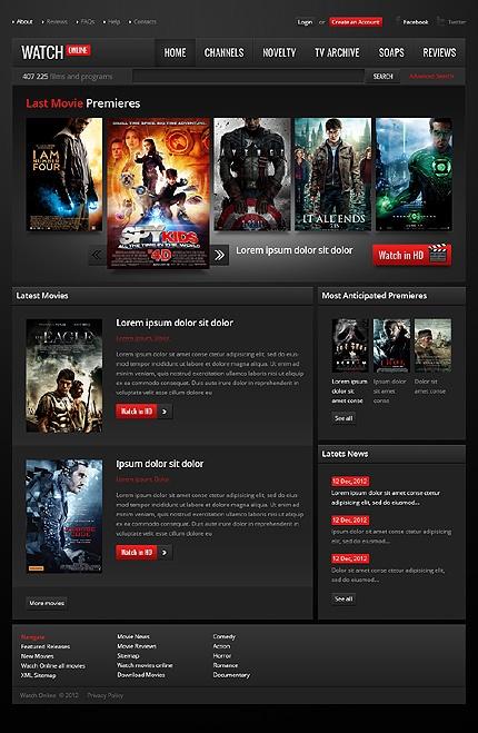 Dark Movie Watching Website Template