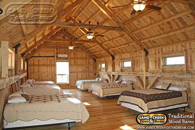 Pole barn loft. Beautiful and rustic. Love.