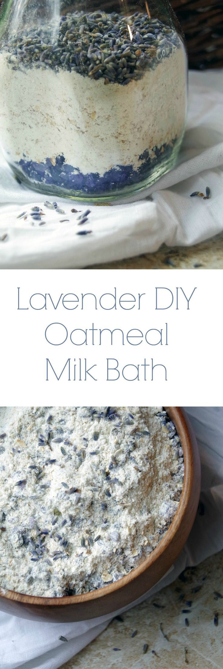 DIY Lavender Oatmeal Milk Bath to Sooth Dry Skin Naturally and Relax your Mind and Body