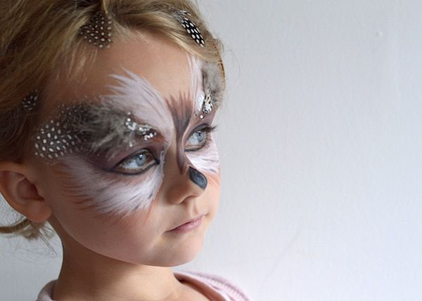 Just So Festival Tribal Tournament Preparation Owl Face Paint 02 lapinblu                                                                                                                                                                                 More