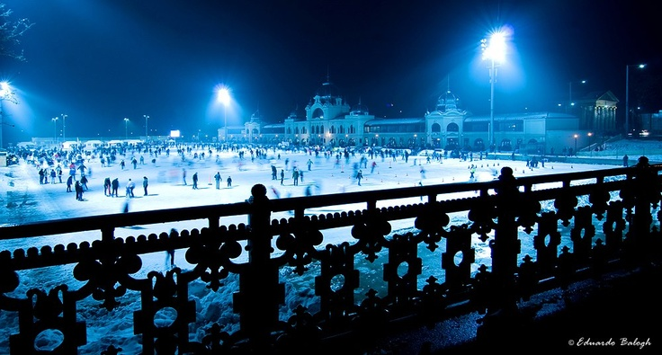 City Park Ice-rink. Yes, it's huge! #budapest