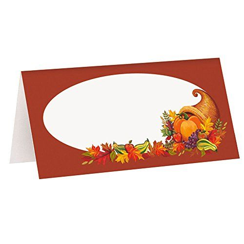 Fall Harvest Thanksgiving Place Cards 16ct *** Click image for more details.
