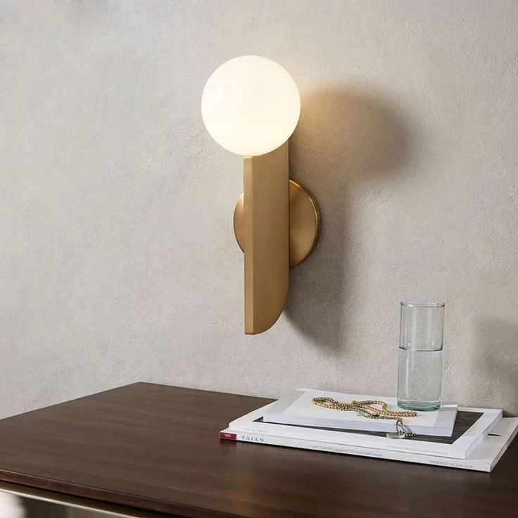 Modern Glass Ball Wall lamp For Living room Decoration Bedroom Bedside LED Wall Light Nordic Wall Lights Fixture Home Indoor