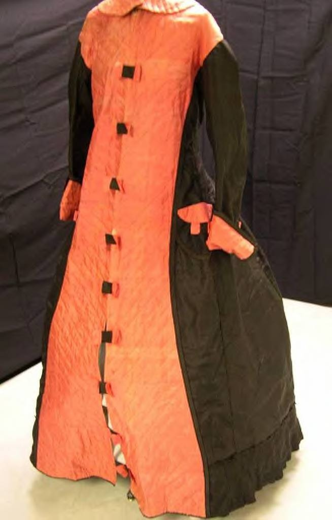 hot pink quilted silk  on black - looks orange in this picture