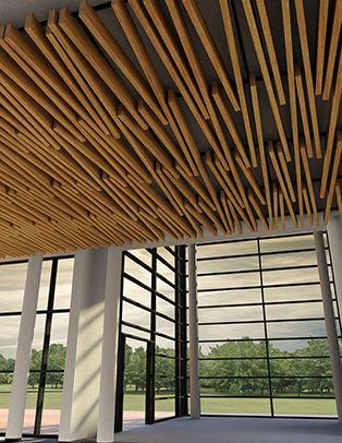 Tavola Divergent Beams and Baffles Ceiling System Wins Interior Design Magazine…