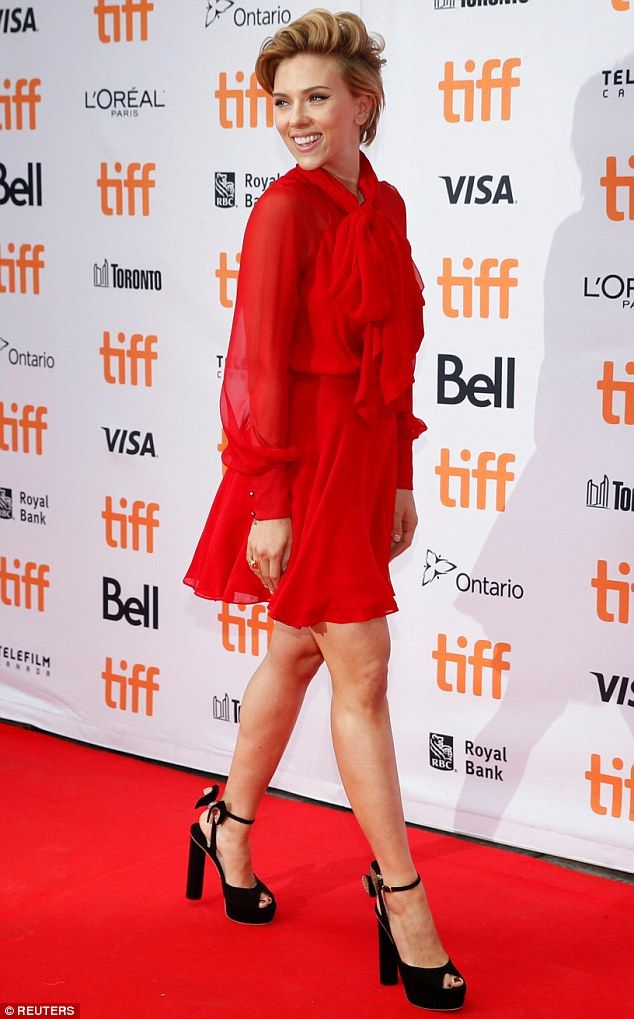 Flaunting what she's got! Scarlett Johansson made sure to stand out at the premiere of her new animated film Sing at the Toronto International Film Festival on September 11, 2016