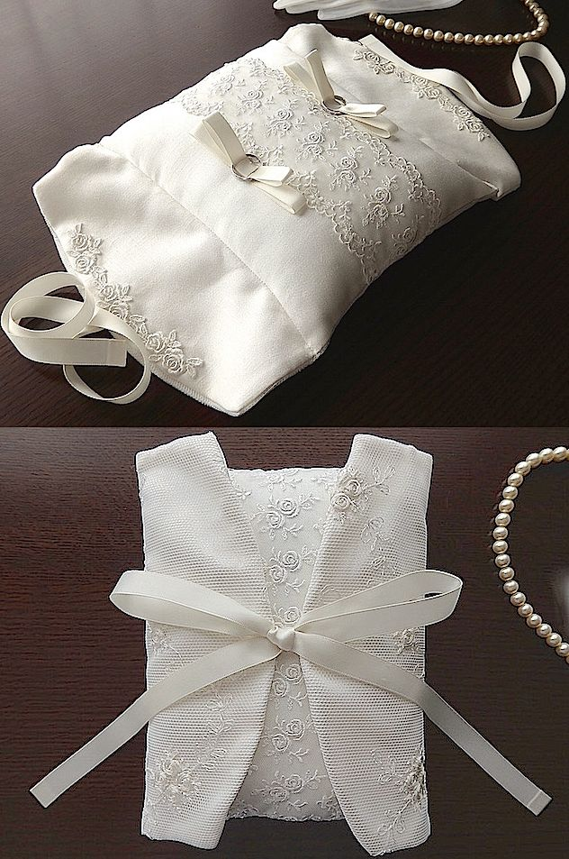 ateliersarah's ring pillow/カバー布付きシルクピロー