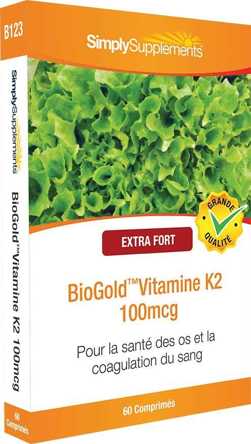 BioGold™ Vitamine K2 est une forme biodisponible de ce nutriment essentiel qui favorise la formation osseuse et la coagulation du sang.