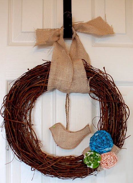 Get a team of friends together to help you and make spring wreaths (or summer or fall). Take orders at church and help deck the doors of your neighborhood and fund your missions trip!