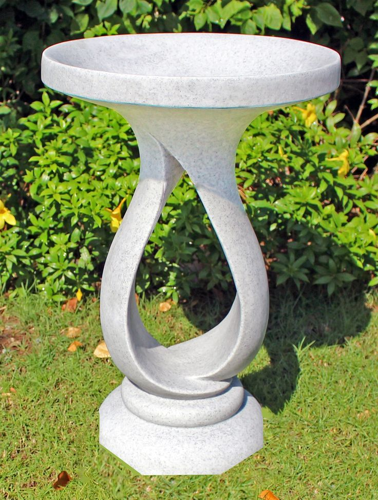 Grasmere Granite Resin Contemporary Garden Bird Bath. Buy Now At Http://www