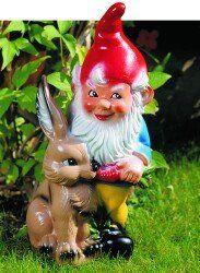 Coniglio nano, 45 cm, gnomi da giardino, plastica: Amazon.it: Giardino e giardinaggio