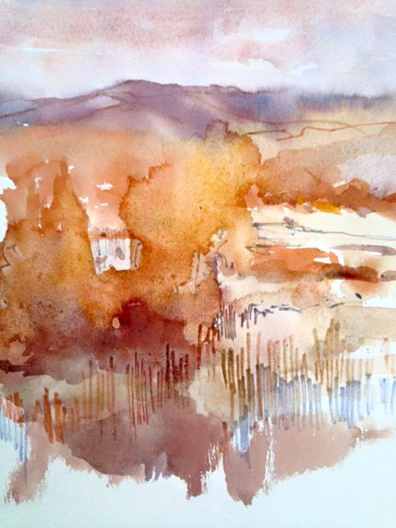Is it time to rewrite the script? Over on the blog http://destinationhereandnow.com/2015/11/is-it-time-to-rewrite-the-script/ Winter Study II, Margaret Hogan. #watercolour #watercolor #sketchbook #sketch #penandink