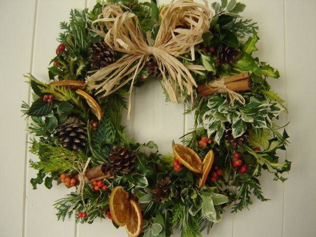 Natural wreath holiday wreaths centerpieces and mantels Christmas wreath making