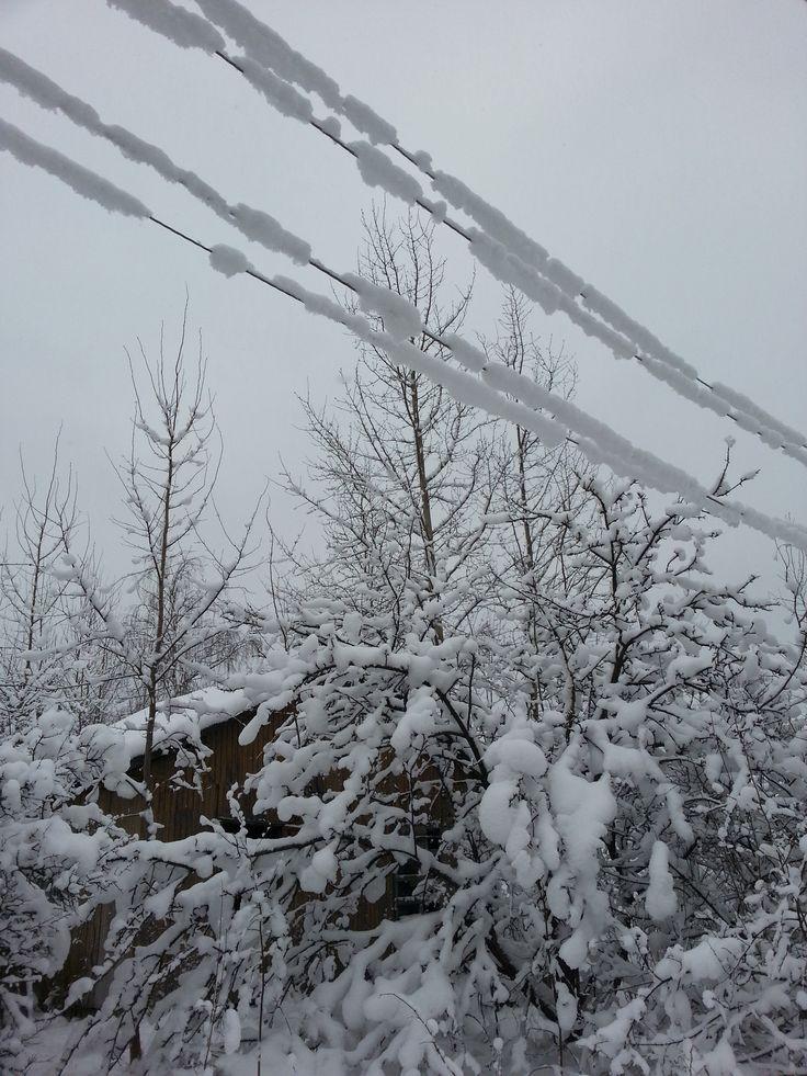 Мороз, снег, Россия