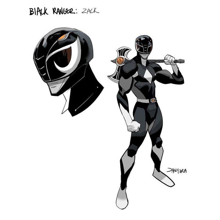 MMPR Black Ranger Redesign by Dan Mora Chaves #∆∆shani