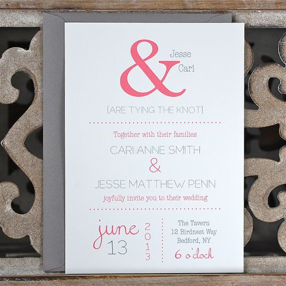 Wedding Invitations / Wedding Invitation   by deanpennandpaper, $4.00