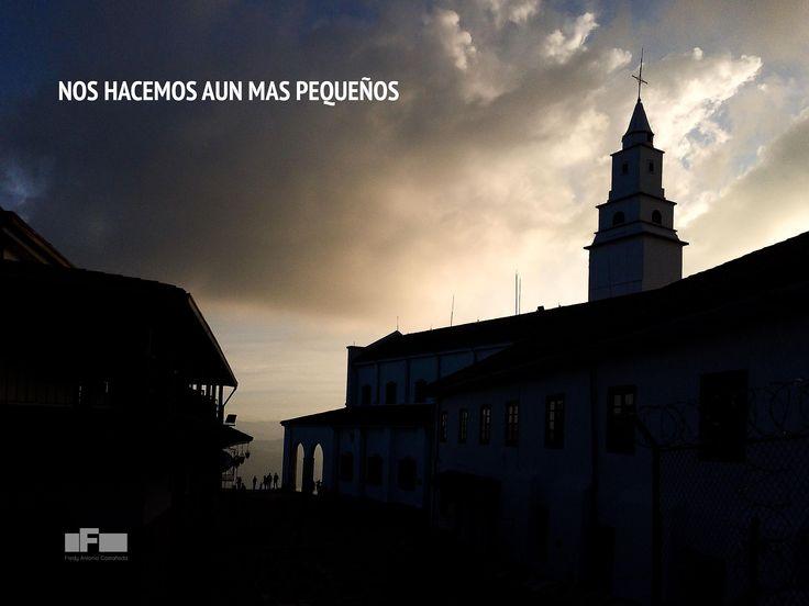 El caer de la tarde en Monserrate - Por Fredy Castañeda - Cámara iPhone 5s - Bogotá - Colombia